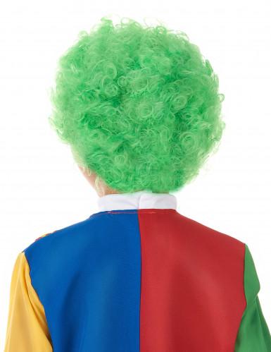 Parrucca clow verde bambino-1