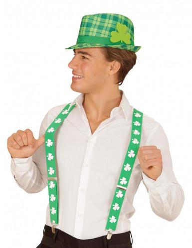 Cappello tartan verde trifoglio San Patrizio adulto-1