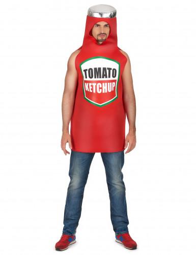 Costume da bottiglia di ketchup per adulto