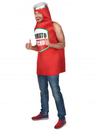 Costume da bottiglia di ketchup per adulto-1