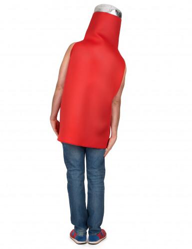 Costume da bottiglia di ketchup per adulto-2