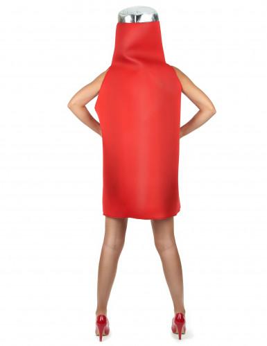 Costume da bottiglia di ketchup per adulto-4