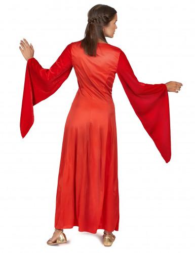 Costume medievale donna di colore rosso-2