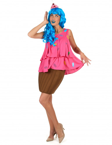 Costume da cupcake pop star per donna