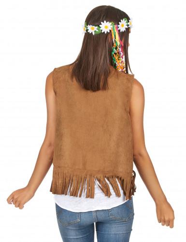 Gilet da hippie con frange per donna-1