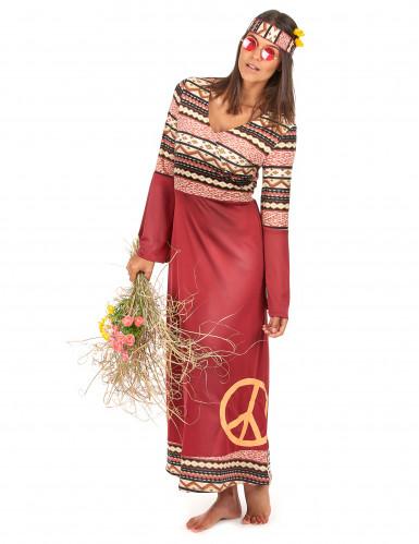 Costume da hippy donna bordeaux-1