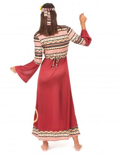Costume da hippy donna bordeaux-2