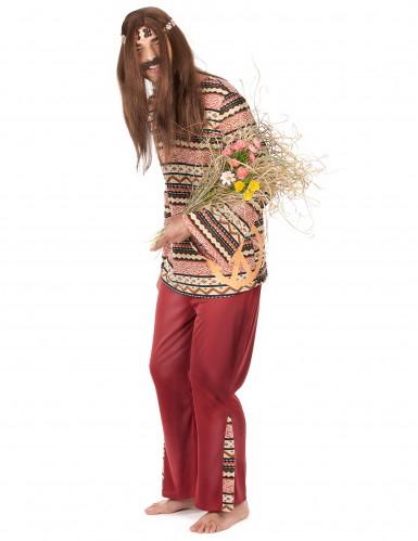 Costume da hippie per uomo bordeaux-1