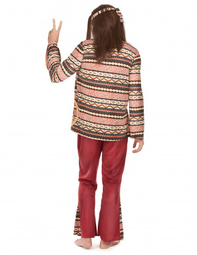 Costume da hippie per uomo bordeaux-2