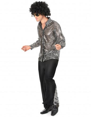 Costume disco per uomo argentato-1