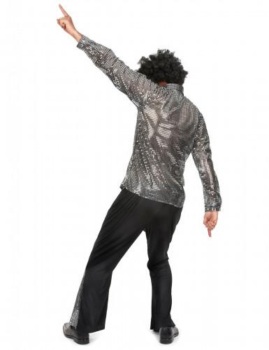 Costume disco per uomo argentato-2
