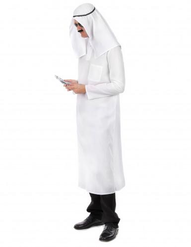 Costume Sceicco Arabo Bianco Per Uomo Costumi Adultie