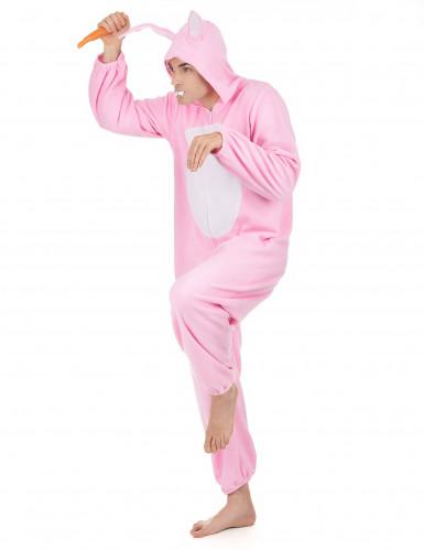 Costume Coniglio Rosa per uomo-1