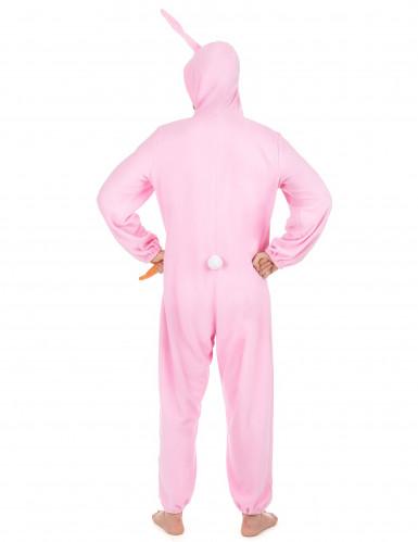 Costume Coniglio Rosa per uomo-2