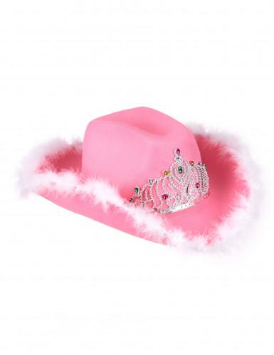 Cappello Cowgirl rosa per donna
