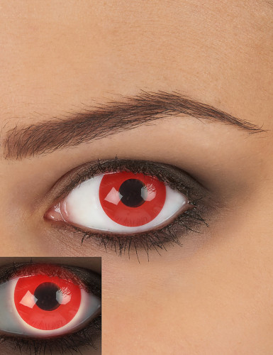 Lenti a contatto rosse UV per adulto