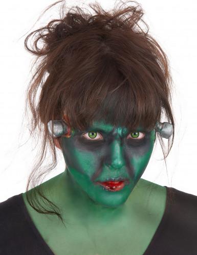 Kit make-up mostro verde con lenti adulto