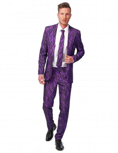 Abito classico da tigre viola per uomo - Suitmeister™