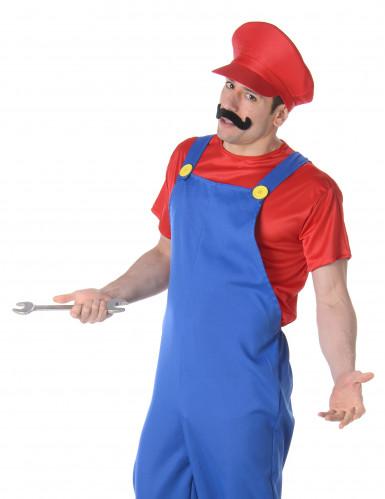 Costume da idraulico blu e rosso per adulto-1