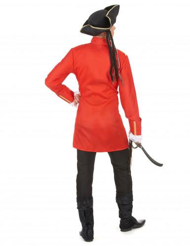 Costume pirata rosso da uomo-2