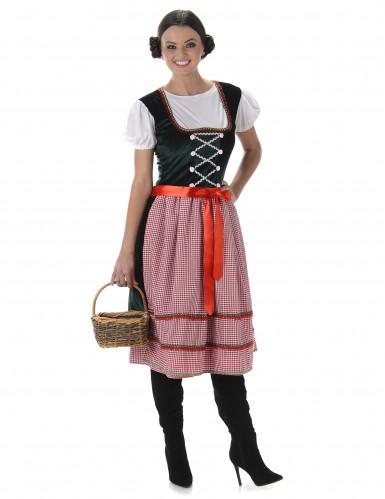 Costume da bavarese con cintura a fiocco per donna