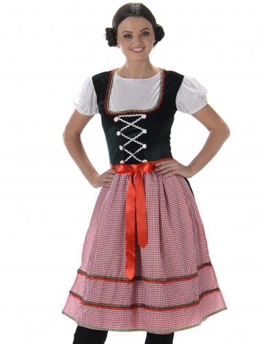 Costume da bavarese con cintura a fiocco per donna-1