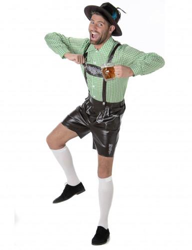 Costume da bavarese con camicia a quadretti per uomo