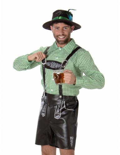 Costume da bavarese con camicia a quadretti per uomo-1