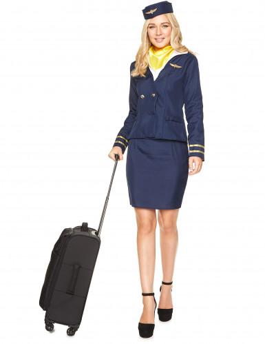 Costume da hostess di volo blu per adulto