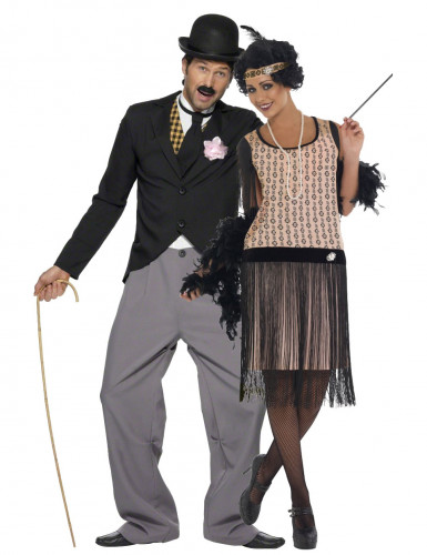 Travestimento coppia Charleston elegante umoristico