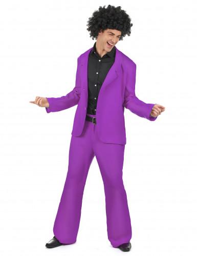 Costume disco viola uomo
