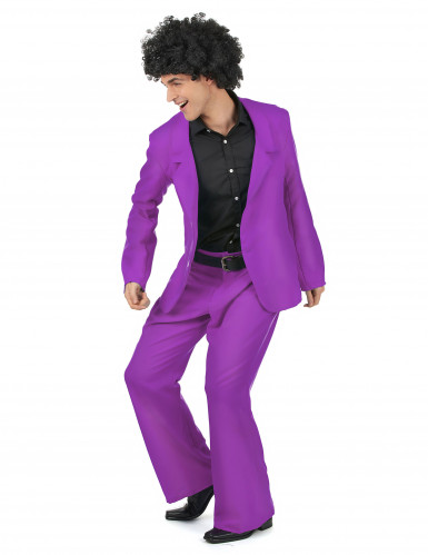 Costume disco viola uomo-1