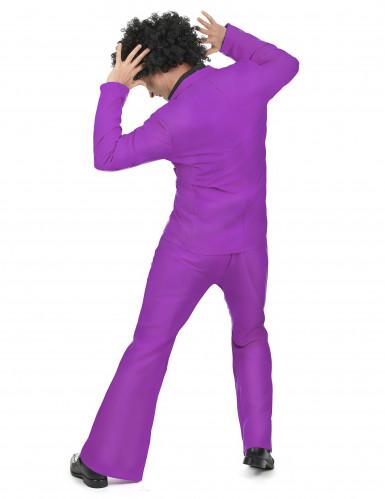 Costume disco viola uomo-2