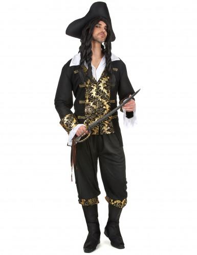 Costume da corsaro onero e oro per uomo