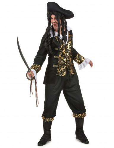 Costume da corsaro onero e oro per uomo-1