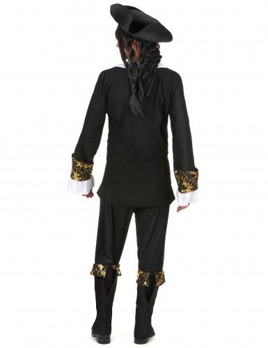 Costume da corsaro onero e oro per uomo-2