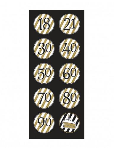 5 Decorazioni da sospendere Compleanno nero-oro-1