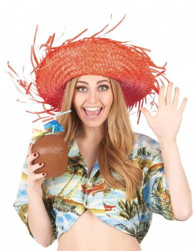 Cappello hawaii arancione adulto-2