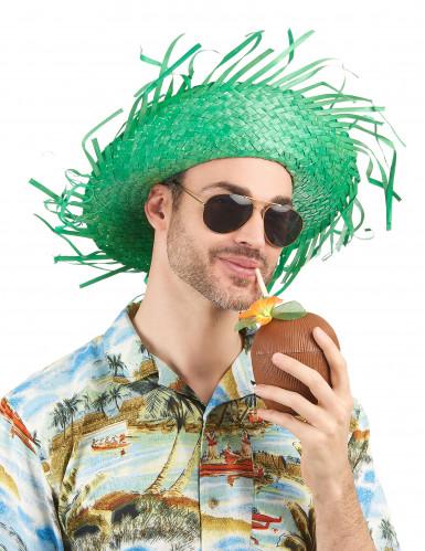 Cappello hawaii verde adulto-1