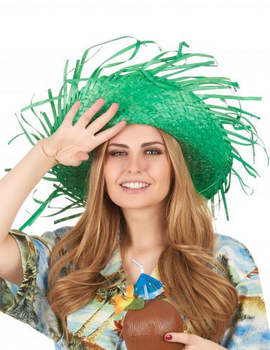 Cappello hawaii verde adulto-2