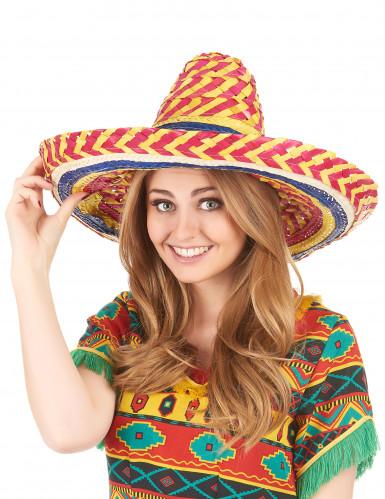 Sombrero messicano colorato per adulto-1