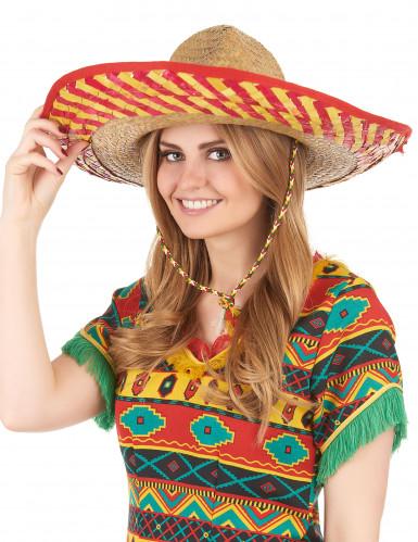 Cappello messicano adulto in paglia-2