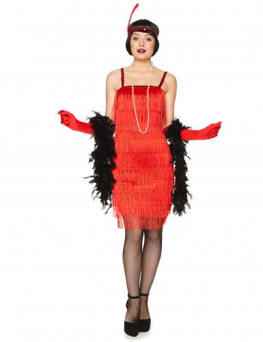 Costume da ballerina di Charleston rosso per adulto