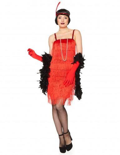 Costume da ballerina di Charleston rosso per adulto-1