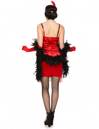 Costume da ballerina di Charleston rosso per adulto-2