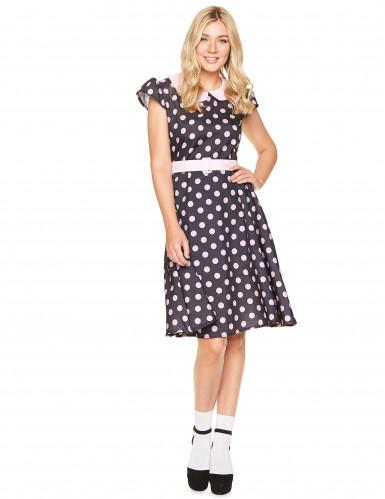 Costume anni '50 a pois da donna-1