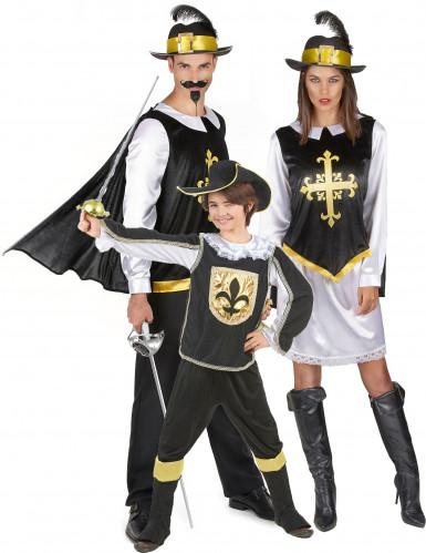 Costume di famiglia Moschettieri neri