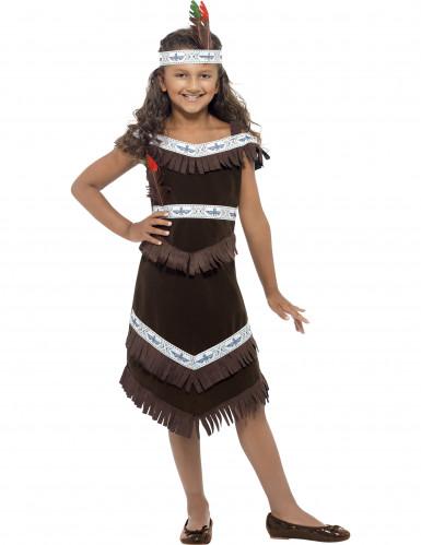 Costume da Indianina marrone per bambina