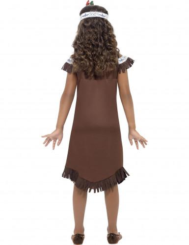 Costume da Indianina marrone per bambina-2