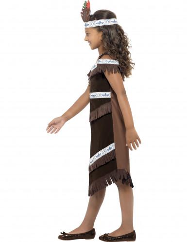 Costume da Indianina marrone per bambina-1